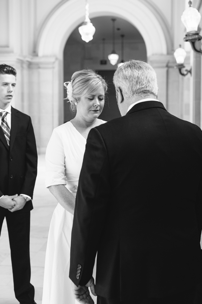 Intimate San Francisco City Hall Wedding from San Francisco City Hall Wedding Photographer Simone Anne // SimoneAnne.com