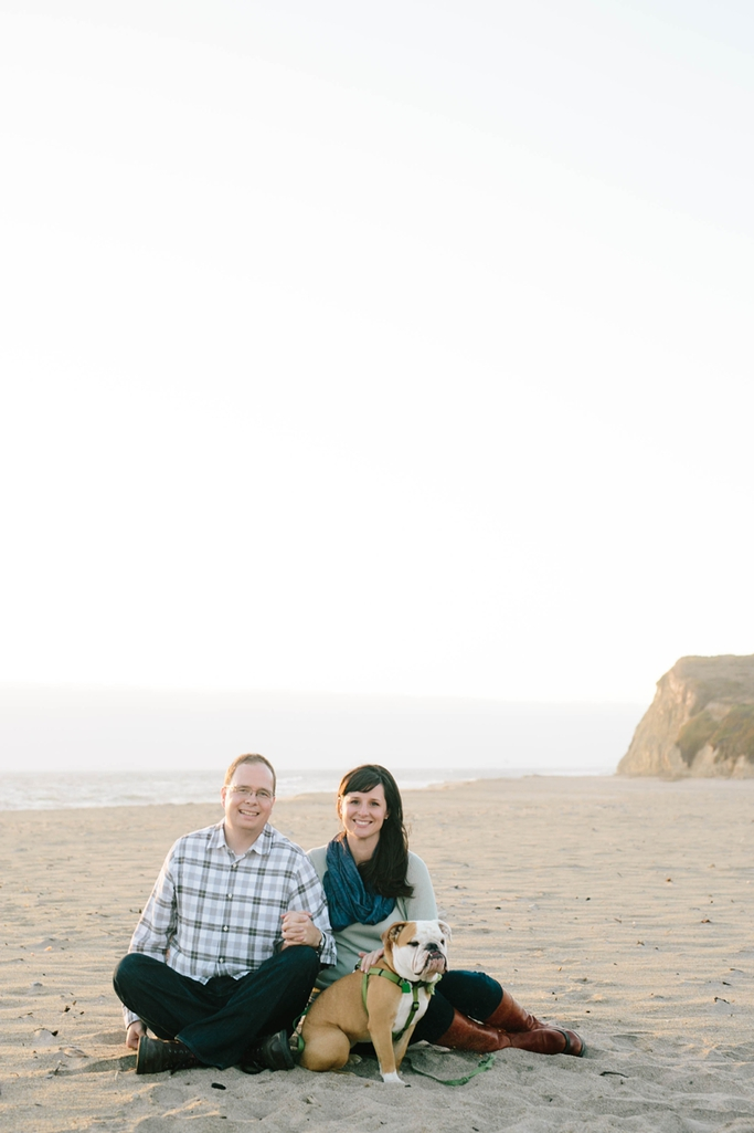 Stunning Davenport Engagement Photography on the California Beach with dreamy cliffs // SimoneAnne.com