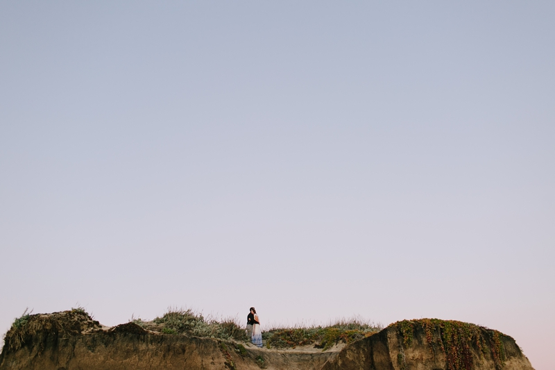 Brittney and Vince's Stunning Half Moon Bay Engagement Photos in a Christmas Tree Farm and at the Beach // SimoneAnne.com