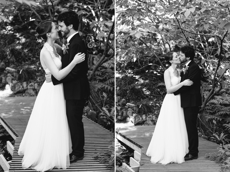 Kristin and Alan's incredible, intimate, funny, Berkeley Botanical Garden Wedding in the rose garden // SimoneAnne.com