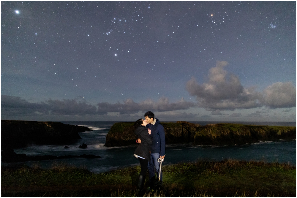 A Starry Proposal in Mendocino engagement proposal under the stars